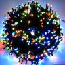 Napelemes 200 LED-es színes karácsonyi fényfüzér, kerti égősor