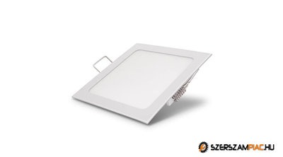 Süllyeszthető led panel 6w négyzet alakú meleg fehér