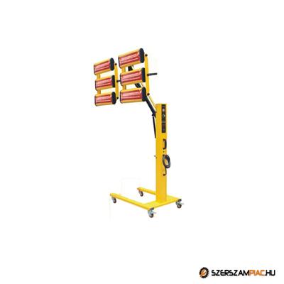 Infravörös festékszárító, infravörös szárítólámpa - 6600 W - 6 lámpa - WLD-6AT