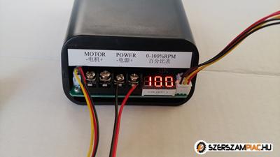 DC motor fordulatszám szabályozó pwm , irányváltó , kijelző 60 A max