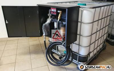 IBC tartály 1000 literes + Kit Equipe 12V. gázolajszivattyú, digitális átfolyás-mérővel,