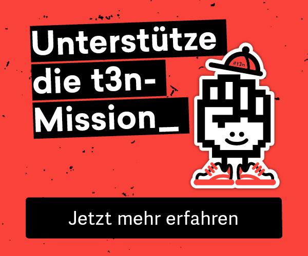 Unterstütze die t3n-Mission: Wir helfen digitalen Pionieren, glücklich zu arbeiten und zu leben.