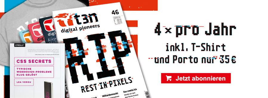 """t3n Abo: 46 inkl. Buch """"CSS Secrets"""""""