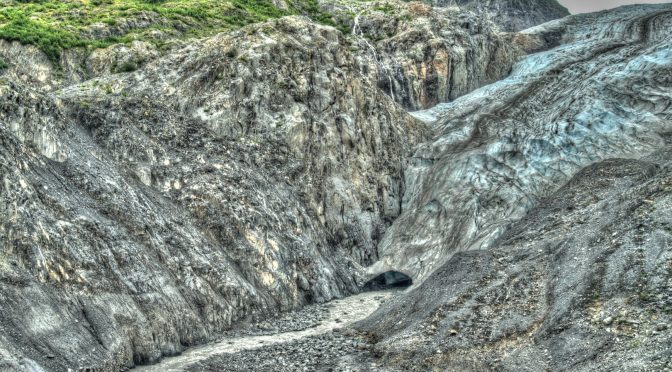 Exit Glacier from bottom