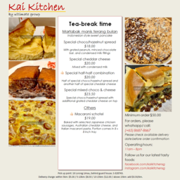 Kai Kitchen Take Sg Whatsapp Order Form