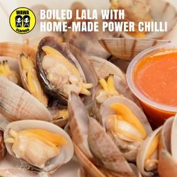 Boiled Lala With WaWa Power Chilli Sauce 🌶🌶🌶🌶