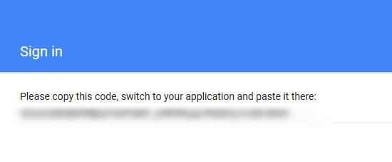 Login con una cuenta de Google