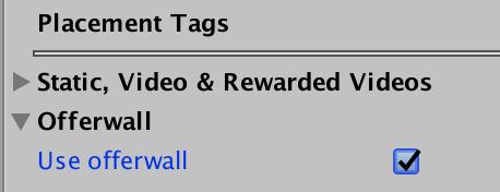 Offerwall - Enable