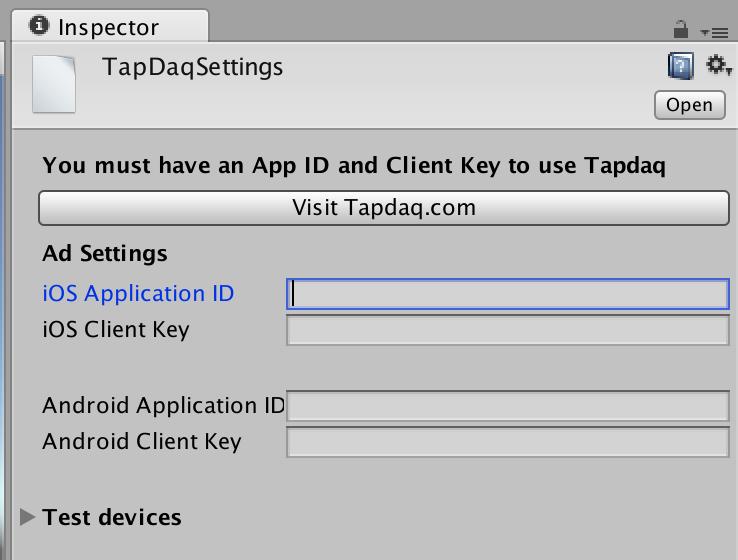 Tapdaq | Quickstart - Unity