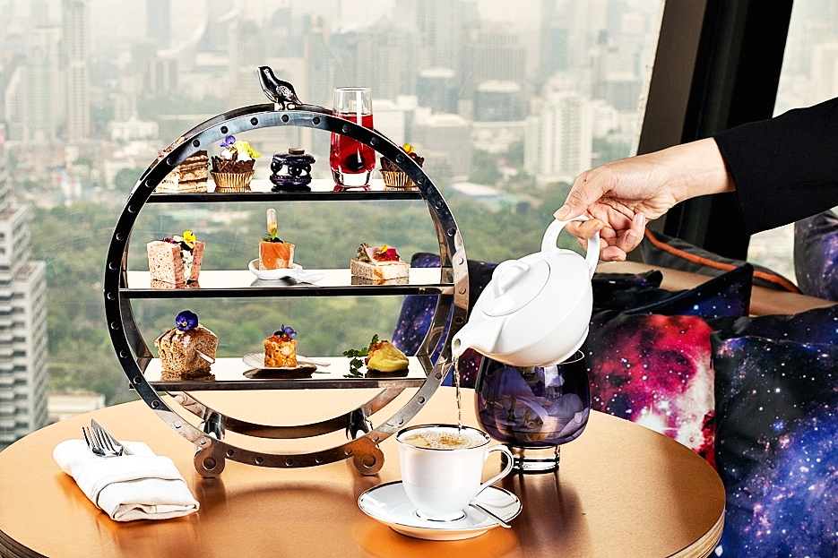 Afternoon High Tea at Vertigo Too on 60th Floor Banyan Tree Bangkok