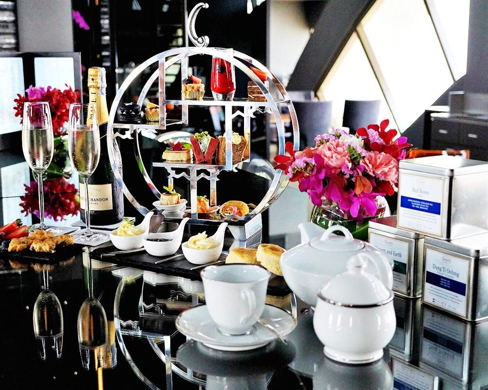 Afternoon High Tea at Vertigo Too on 60th Floor Banyan Tree Bangkok