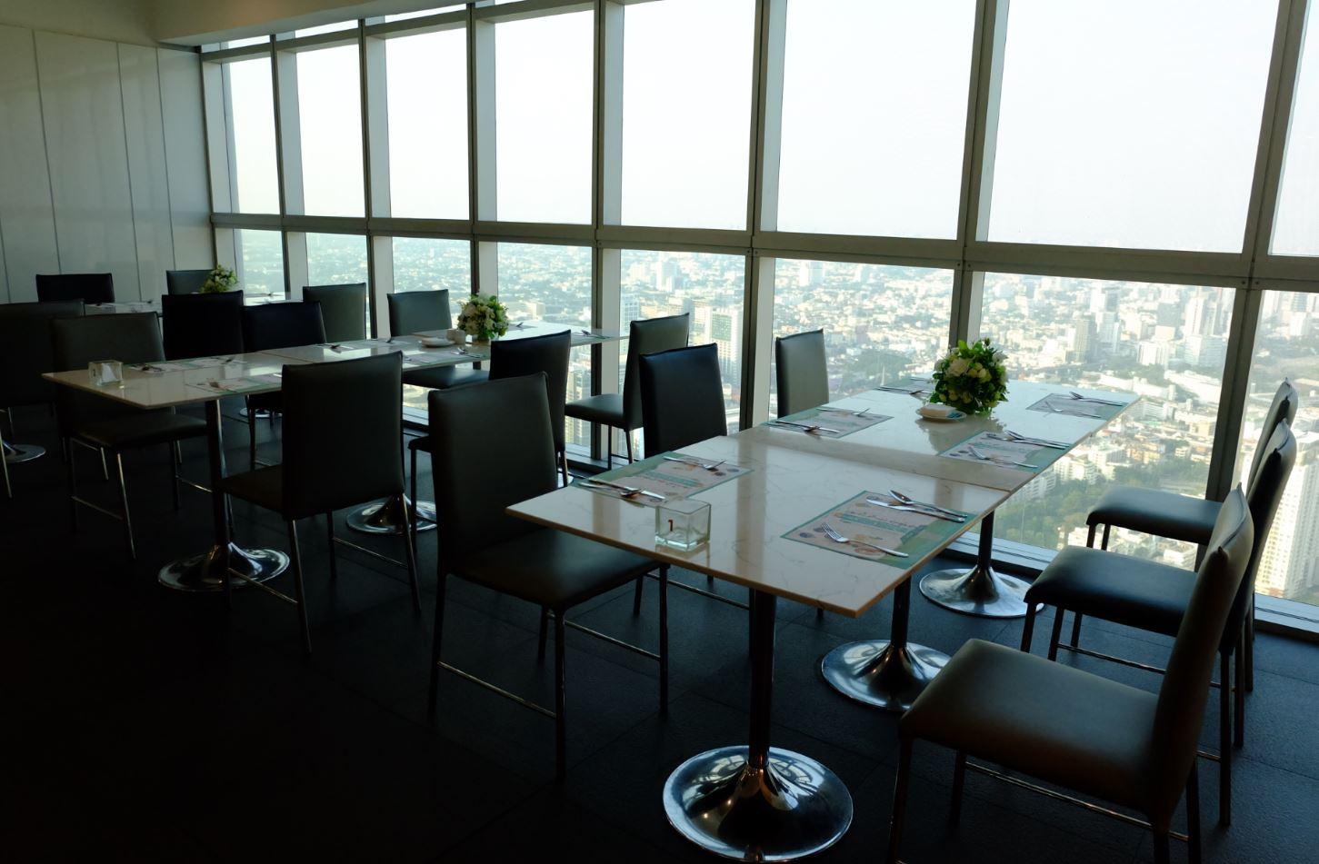 The 69 Seafood Buffet Restaurant on 69th floor Baiyoke Sky Hotel