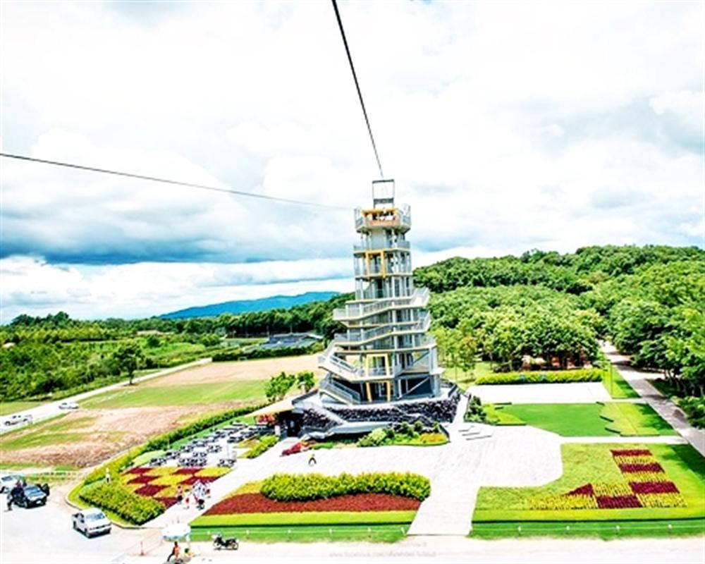 Zipline and Cycling Around Singha Park Chiang Rai