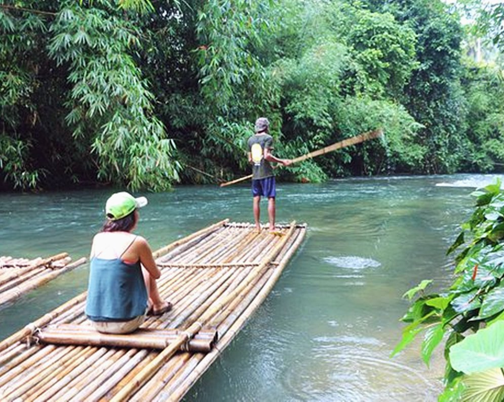 Elephant Cleaning with Thai Appetizer and Floating Bamboo Raft Downstream
