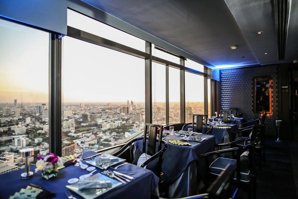 Chinese Set Menu at Bai Yun Restaurant on 59th Floor Banyan Tree Bangkok