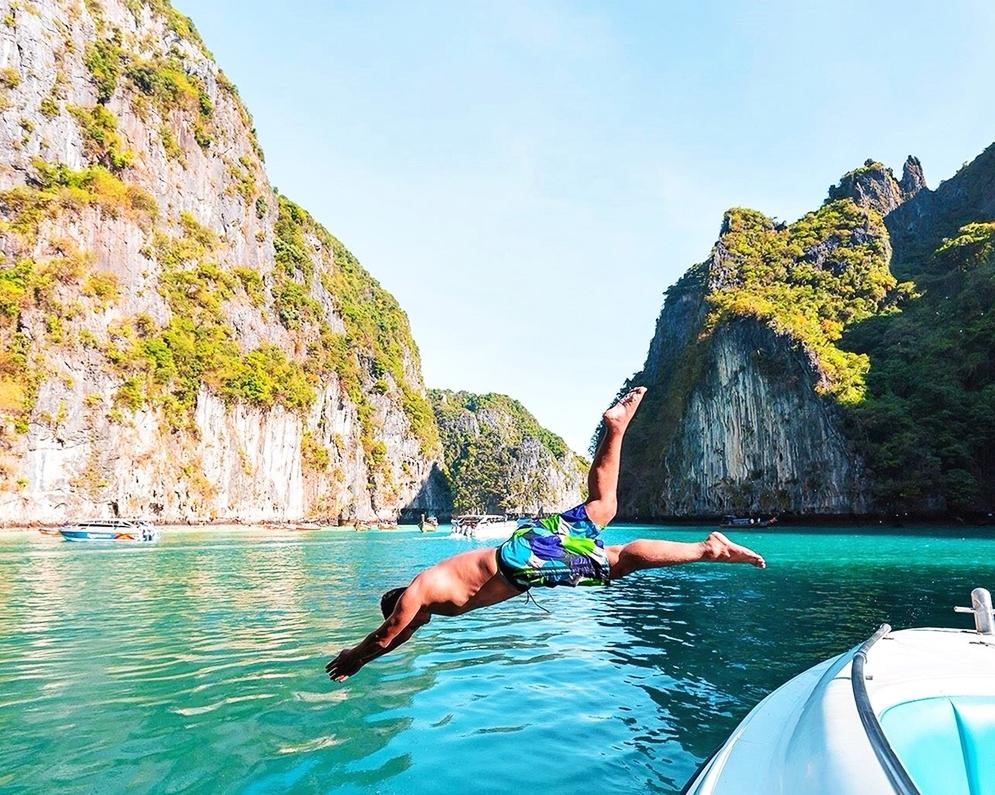 Phi Phi Maya Bamboo and Maiton Island from Phuket