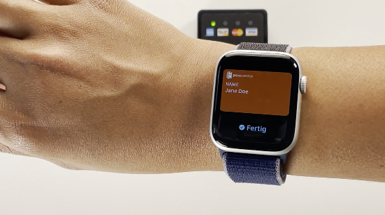 Usage of an NFC Wallet pass using an Apple Watch