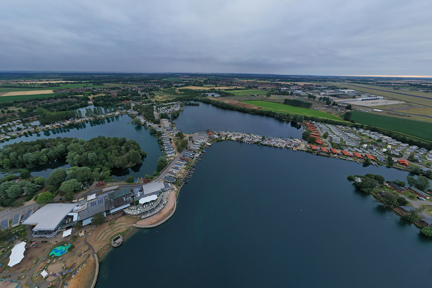 Aearial view of Tattershall Lakes.