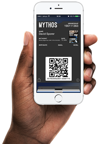 Wallet pass for MYTHOS party in Gothenburg, Sweden