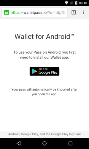 Download Wallet Passes App to store Wallet passes on Android