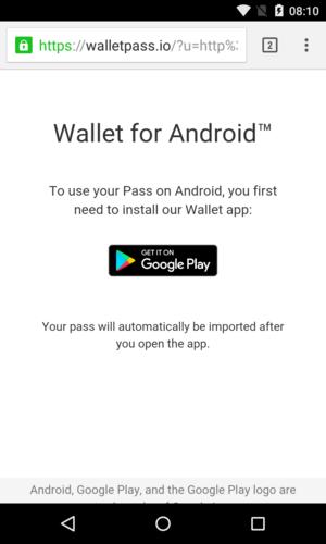 Wallet Passes App auf Android installieren