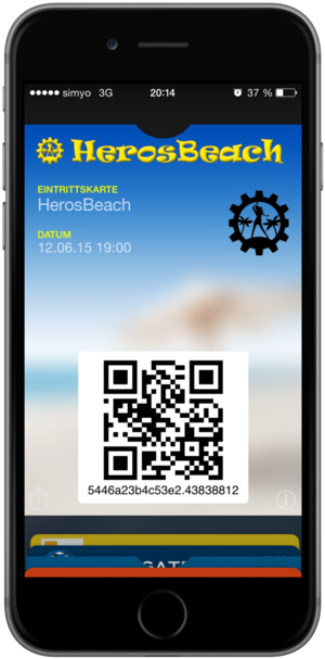 Wallet event ticket