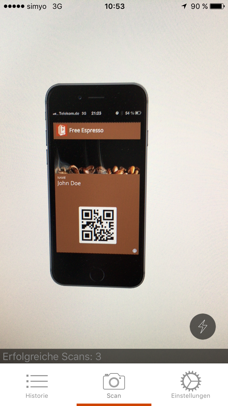Scan Wallet passes using the Passcreator Companion App