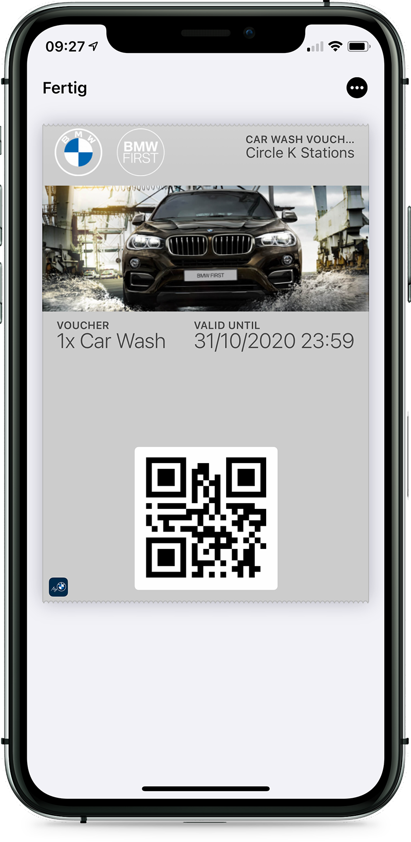 BMW First - Car wash voucher