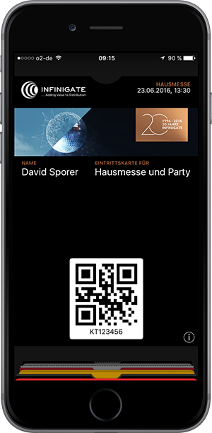 Event ticket with small background image in Wallet App