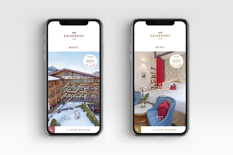 Hotel Kaiserhof responsive website