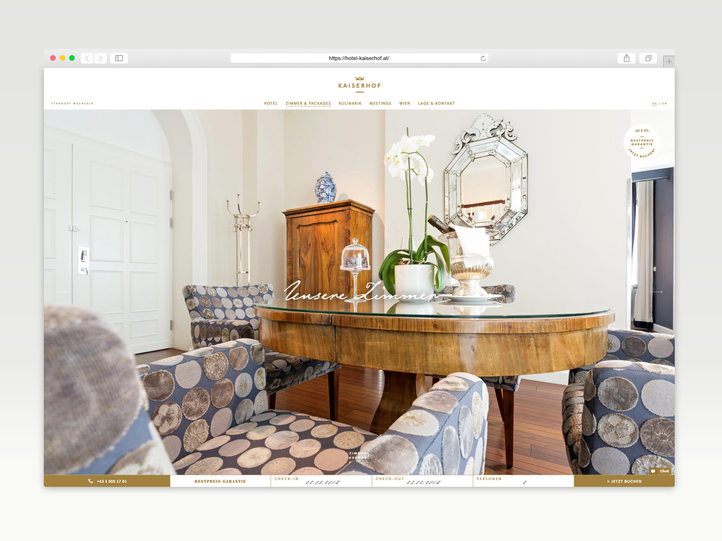 Hotel Kaiserhof Website Design