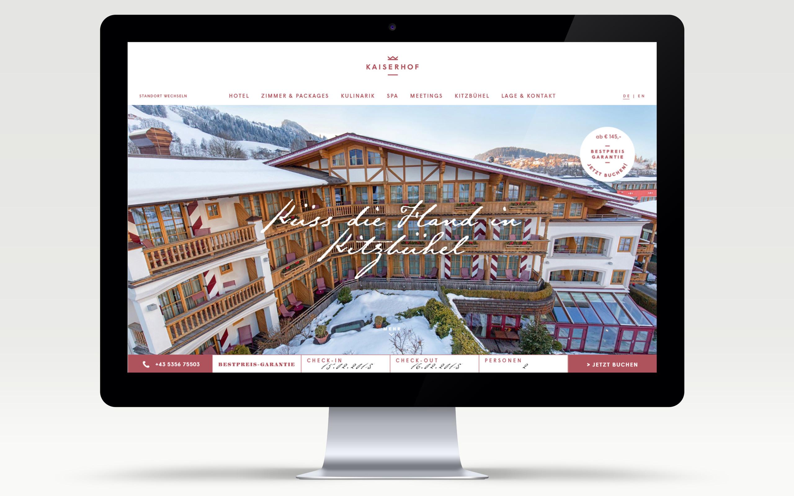 Hotel Kaiserhof Branding & Website