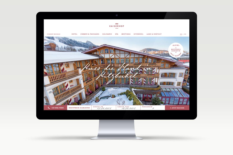 Hotel Kaiserhof website development