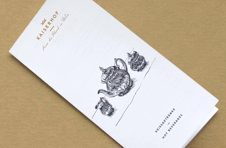 Hotel Kaiserhof menu design