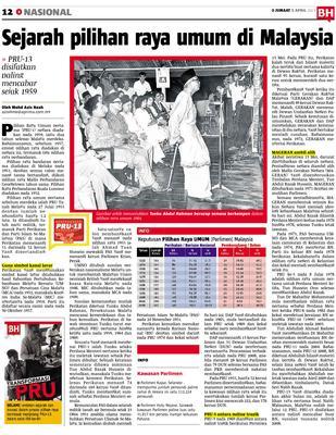 Sejarah Pilihan Raya Umum Di Malaysia Klik