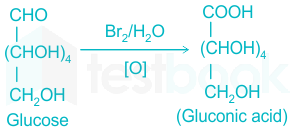 What is the action of bromine water on: (i) glucose, (ii) fructose? from  Chemistry Biomolecules Class 12 Haryana Board - English Medium