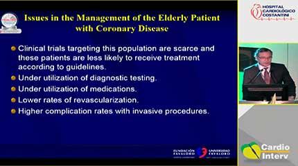 Palestra 14 - Intervenção percurtânea no idoso. Visão da cardiologia intervencionista