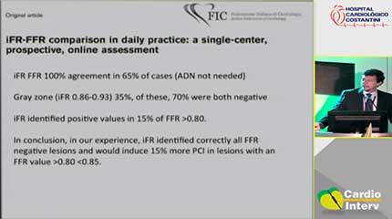 Palestra 15 - No paciente multiarterial devemos considerar o IFFR ou FFR com um método de rotin