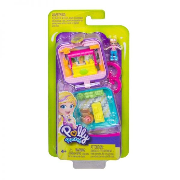Polly Pocket Polly Pocket Tiny Compact Μίνι Σετάκια Μπρελόκ GKJ39 3 Σχέδια Κορίτσι 4-5 ετών, 5-7 ετών Polly Pocket