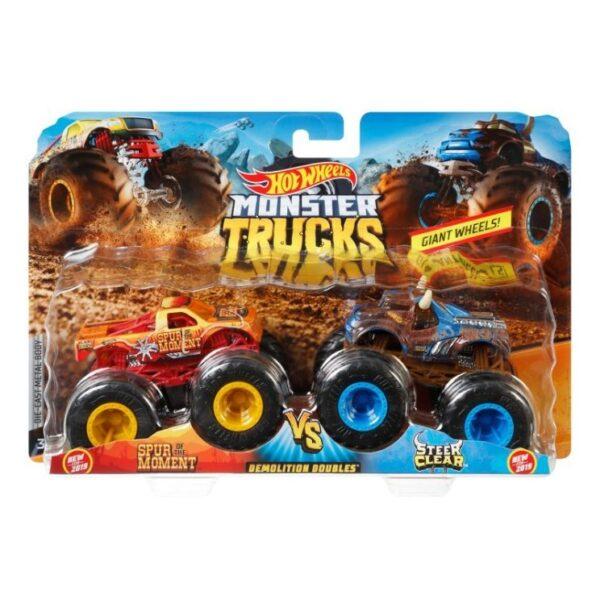 Hot Wheels Οχήματα Monster Trucks Σετ Των 2 - 9 Σχέδια FYJ64 Hot Wheels 3-4 ετών, 4-5 ετών, 5-7 ετών Αγόρι