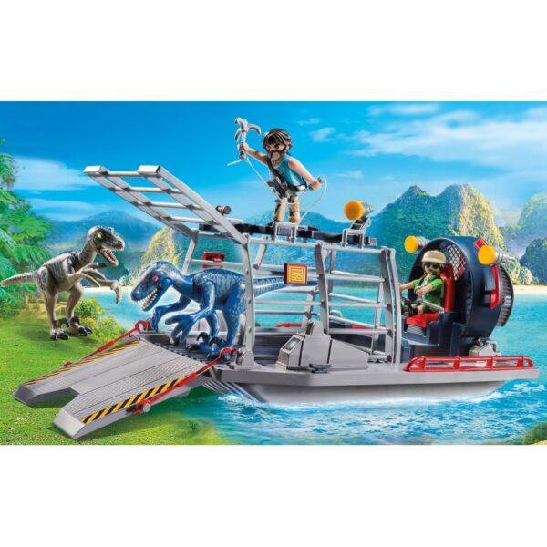 Playmobil, Playmobil Dinos  Playmobil Dinos Ταχύπλοο λαθροκυνηγών με κλουβί δεινοσαύρων 9433 Αγόρι 4-5 ετών, 5-7 ετών