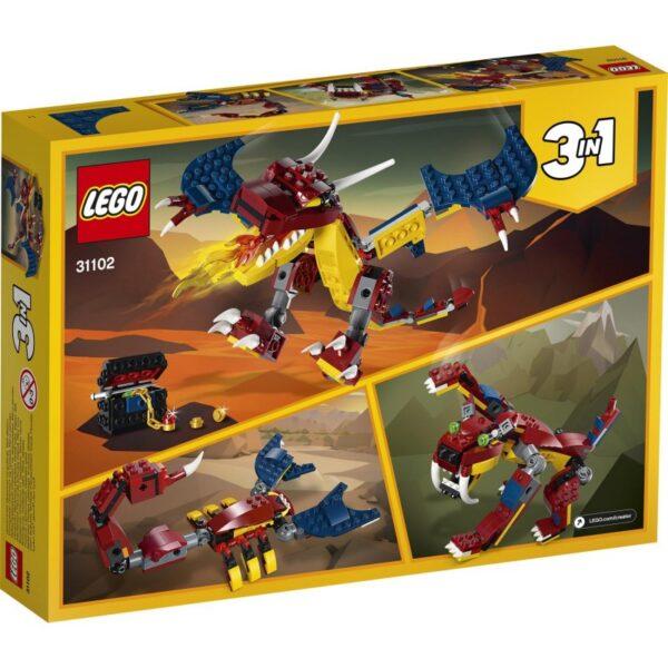 LEGO, Lego Creator Αγόρι, Κορίτσι 7-12 ετών LEGO Creator Δράκος της Φωτιάς 31102