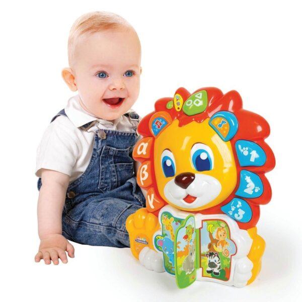 Baby Clementoni  Baby Clementoni Βρεφικό Παιχνίδι Λέων Το Λιονταράκι 1000-63366 Αγόρι, Κορίτσι 12-24 μηνών, 6-12 μηνών