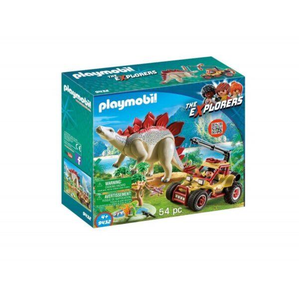 Playmobil Dinos Εξερευνητικό όχημα και Στεγόσαυρος 9432 Playmobil, Playmobil Dinos Αγόρι 4-5 ετών, 5-7 ετών