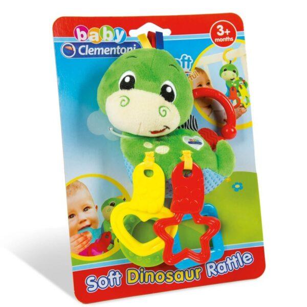 Baby Clementoni Βρεφικό Παιχνίδι Κουδουνίστρα Δεινοσαυράκι 2 Σε 1 1000-17215 Baby Clementoni Αγόρι, Κορίτσι 0-6 μηνών, 6-12 μηνών