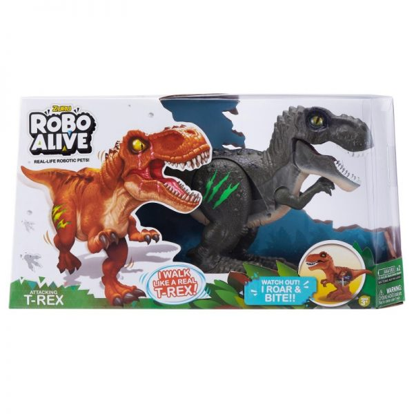 ROBO ALIVE  Robo Alive Ηλεκτρονικός Δεινόσαυρος T-Rex - 2 Χρώματα 1863-27110 Αγόρι 3-4 ετών, 4-5 ετών, 5-7 ετών