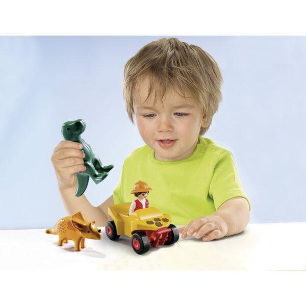 Playmobil, Playmobil 1.2.3 Αγόρι, Κορίτσι 12-24 μηνών, 2-3 ετών Playmobil 1.2.3 Εξερευνητής με δεινόσαυρους 9120