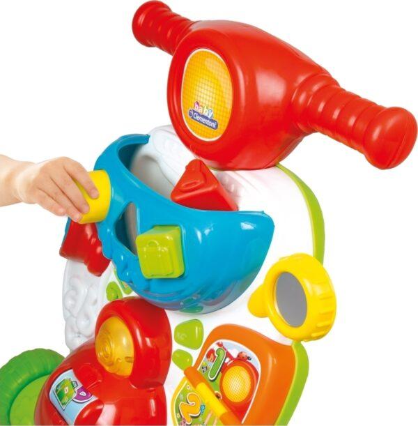 Baby Clementoni  Baby Clementoni Βρεφικό Παιχνίδι Σκουτεράκιας (Μιλάει Ελληνικά) 1000-63167 Αγόρι, Κορίτσι 12-24 μηνών, 6-12 μηνών