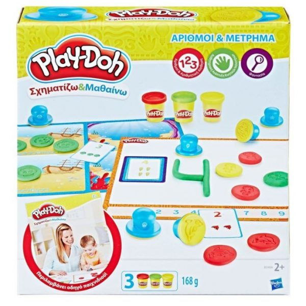 Play-Doh Σχηματίζω Και Μαθαίνω: Αριθμοί Και Μέτρημα B3406 Play-Doh Αγόρι, Κορίτσι 2-3 ετών, 3-4 ετών