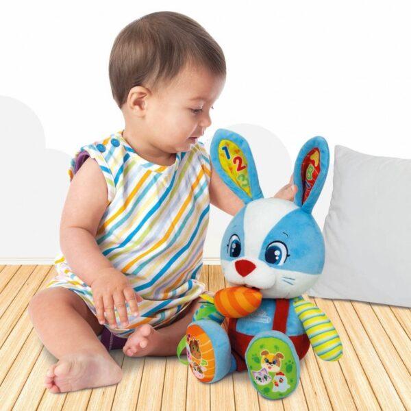 Baby Clementoni Αγόρι, Κορίτσι 12-24 μηνών, 6-12 μηνών Baby Clementoni Λέλος Το Λαγουδάκι (Μιλάει Ελληνικά) 1000-63565